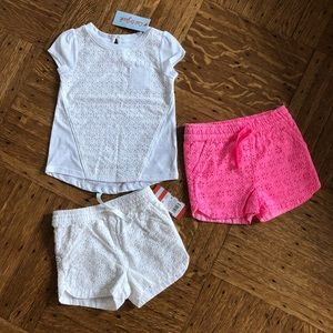 3 piece Cat & Jack Shorts T-shirt 3T